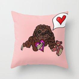 Romantic Sloth Throw Pillow