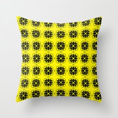 Yellow Custom Pattern Throw Pillow