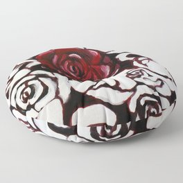 War of Roses Painting Floor Pillow