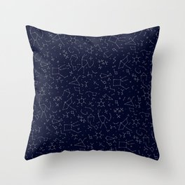 Chemicals and Constellations Throw Pillow