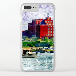 Chugging by Natty Boh faux watercolor Clear iPhone Case