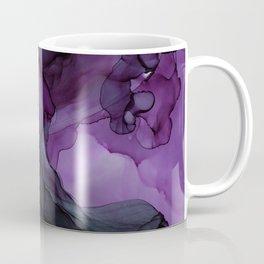 Abstract Ink Painting Deep Purple Green Coffee Mug
