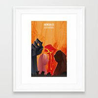 hercules Framed Art Prints featuring Hercules by holysmoaks