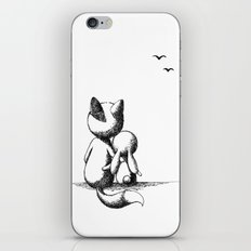Fox and a rabbit iPhone Skin