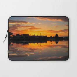 Sunrise arcross the water Laptop Sleeve