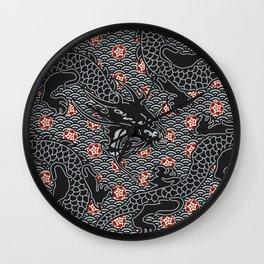 Hidden Dragon / Oriental dragon design Wall Clock