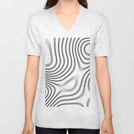Organic Abstract 01 WHITE Unisex V-Neck