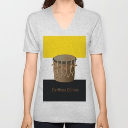 Garifuna Culture - Flag and Drum Unisex V-Neck