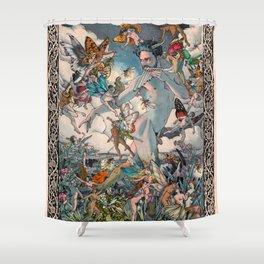 El Fauno y las Hadas Shower Curtain