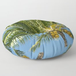 Hawaiian Coconut Palm Tree Floor Pillow
