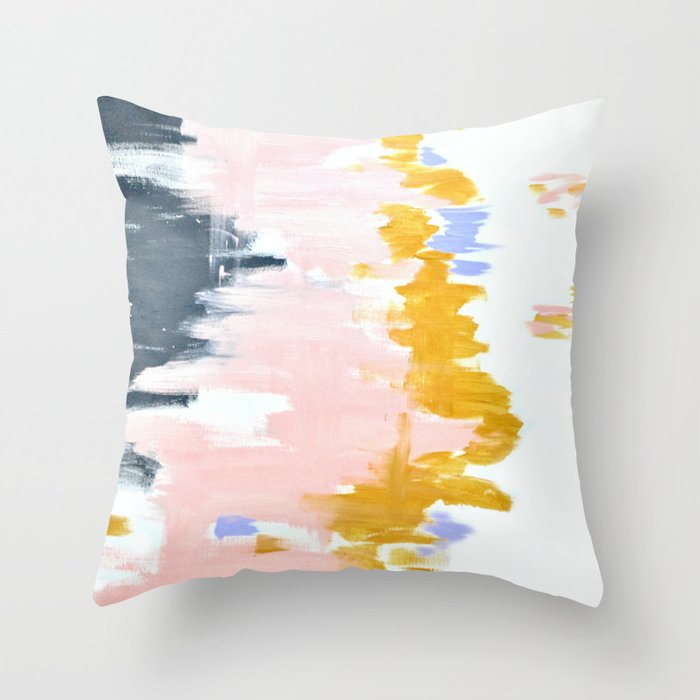 Multicolor spring abstract Throw Pillow