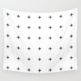PLUS ((black on white)) Wall Tapestry