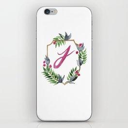 Jungle Gold Monogram Crest J iPhone Skin