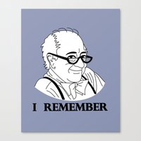 I Remember Canvas Print