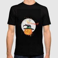 Halloween's pumpkin Black Mens Fitted Tee MEDIUM