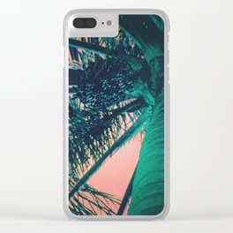 Sunset Under the Palm Clear iPhone Case