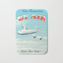 See America By Air Commercial Airliner travel poster. Bath Mat