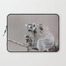 RINGTAILED LEMUR FAMILY by Monika Strigel Laptop Sleeve