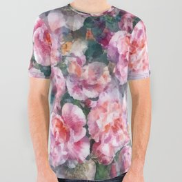 Pink floral pattern All Over Graphic Tee