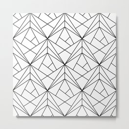 Black and White Geometric Pattern Metal Print