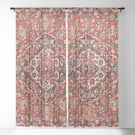 Kashan  Antique Central Persian Rug Print Sheer Curtain