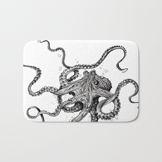 Octopus Bath Mat By Taojb Society6