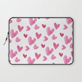 Be my valentine blush pink vector romantic heart pattern Laptop Sleeve