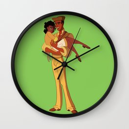 Almost There Green Wall Clock