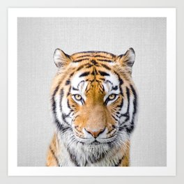 Tiger - Colorful Art Print