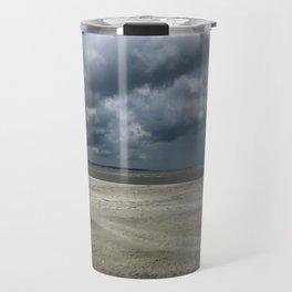 Dramatic Sky Over Golden Isles Beach Travel Mug