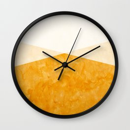 Yellow Art Wall Clock