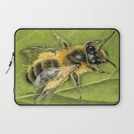 Honeybee On Leaf Laptop Sleeve