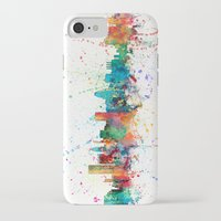 maryland iPhone & iPod Cases featuring Baltimore Maryland Skyline by artPause