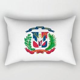 seal of the dominican republic-dominican,hispaniola,dominicana,antilles,caribean,santo domingo Rectangular Pillow