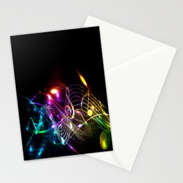 Music Notes in Color Stationery Cards