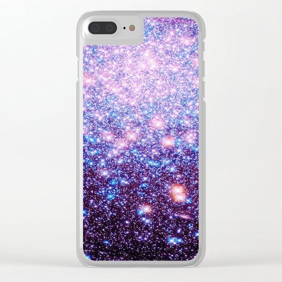 GaLaxY Stars : Pink Purple Blue Clear iPhone Case