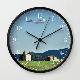 Vitaleta chapel in Val d'Orcia, Tuscany Wall Clock