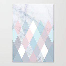 Diamond Peaks on Marble Canvas Print