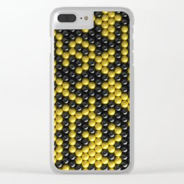 Pattern of black and yellow spheres Clear iPhone Case