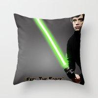 luke hemmings Throw Pillows featuring Luke by KL Design Solutions
