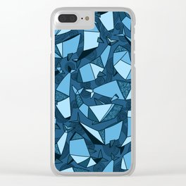 Origami whales Clear iPhone Case