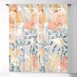 Coral Spring Garden Blackout Curtain