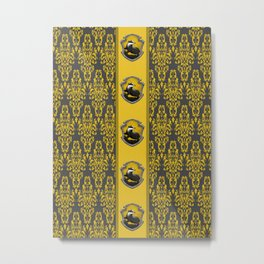Hufflepuff Strips Metal Print