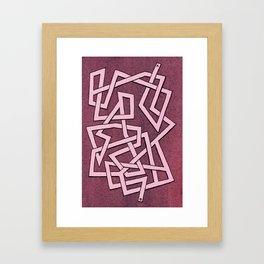 Maze 79 Framed Art Print