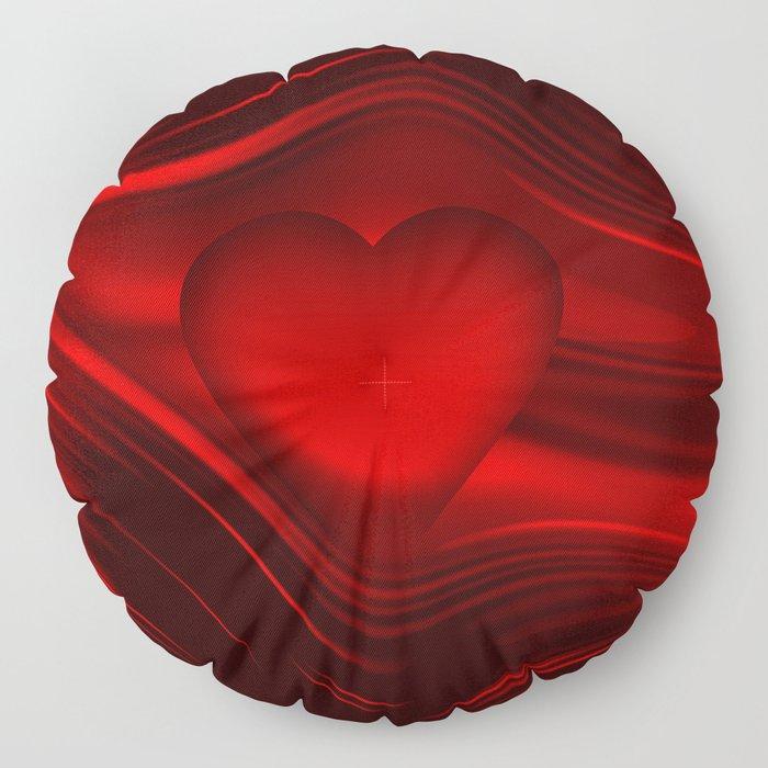 Red heart 16 Floor Pillow