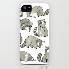 Delightfully Blobby Raccoons iPhone Case