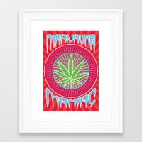 marijuana Framed Art Prints featuring Marijuana Maniac.  by JonnyNY