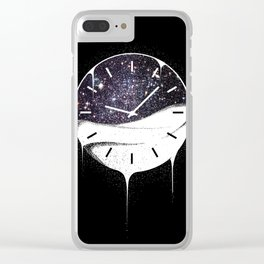 Spilling Time Clear iPhone Case