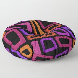 Palm Springs Nights - Modern Tiki Floor Pillow