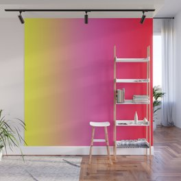 Red Pink Yellow Gradient Wall Mural